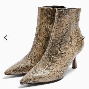 Topshop | MACI Snake Print Pointed Boots